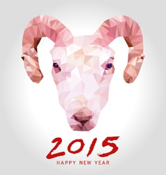 happy goat year polygon vector image