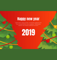 happy new year 2019 concept background isometric vector image