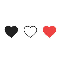 hearts like love live icons vector image