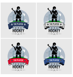 hockey club logo design artwork of a female vector image