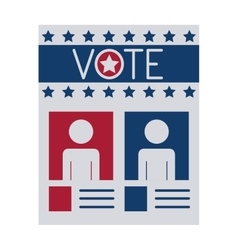 Isolated paper of vote design vector