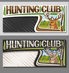 layouts for hunting club vector image