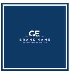 Letter ce mountain logo design vector