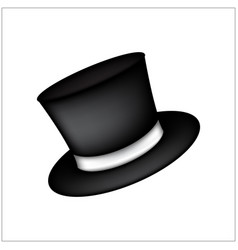 Magic hat gentleman hat cylinder with ribbon icon vector