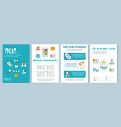 Marketing referral program brochure template vector