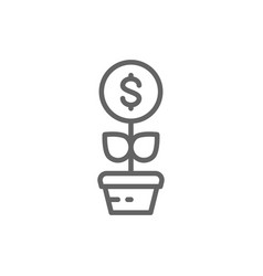 money tree financial investments save money vector image