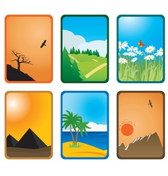 Nature cards vector