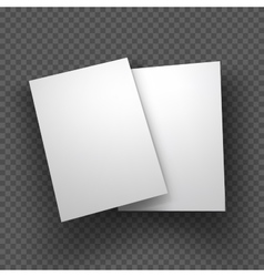 Paper sheets mockup on transparent background vector
