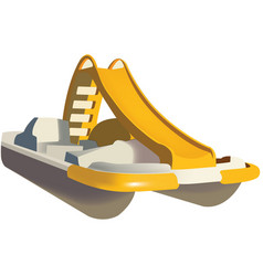 Pedal boat pedal boat with slide vector