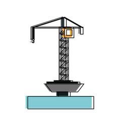 petroleum pump in ocean vector image