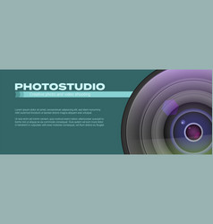 Photo studio logo and business card template vector