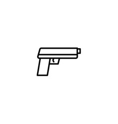 pistol gun icon vector image