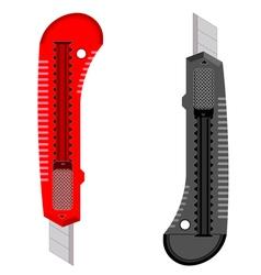 Plastic knives vector