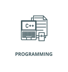 programmingcodingnotebook line icon vector image
