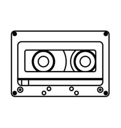 Retro cassette isolated icon vector