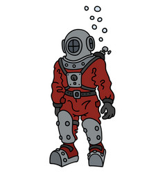 Retro deep diver vector