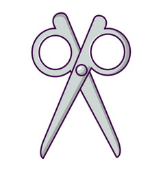 scissors icon cartoon style vector image