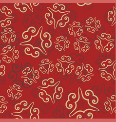 seamless pattern on red vintage decorative vector image