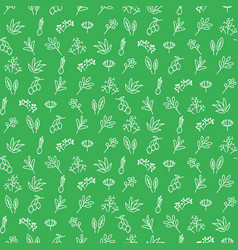 seasoning icons seamless green pattern vector image