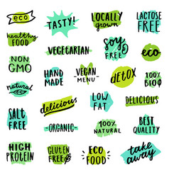 Set of food badges vector