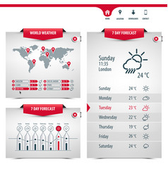 set weather application templates vector image