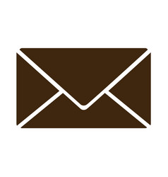 silhouette envelope closed icon flat vector image