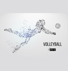 Silhouette volleyball player vector