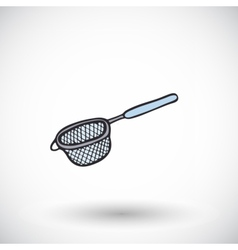 Strainer icon with round shadow vector image