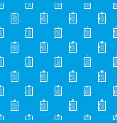 to do list pattern seamless blue vector image