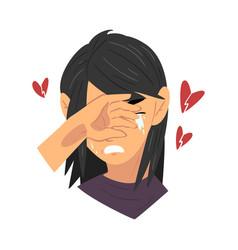 Unrequited love teen problem depressed teenager vector