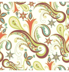Vintage ornament seamless texture vector image