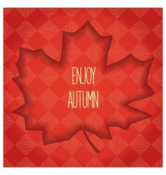Volumetric maple leaf vector image