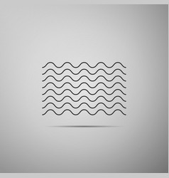 waves icon isolated on grey background vector image