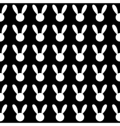 White Rabbit Black Background vector