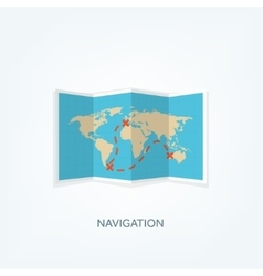 World map in a flat style Earth globe vector