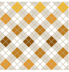 yellow argyle harlequin seamless pattern vector image