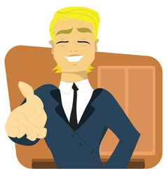 Young businessman handshake vector image