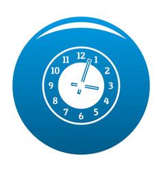 clock concept icon blue vector image