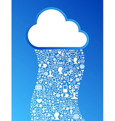 Cloud computing network background vector image vector image