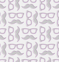 hipster seamless pattern with glasses and m vector image vector image