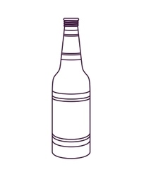 Isolated beer bottle design vector image vector image
