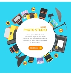 Professional Photo Studio Banner Card vector image