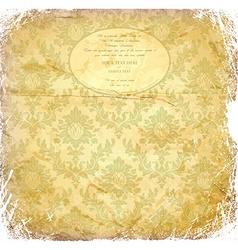 Vintage grunge wedding invitation vector