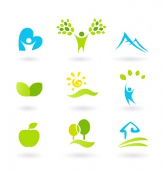 andscape icons vector image vector image