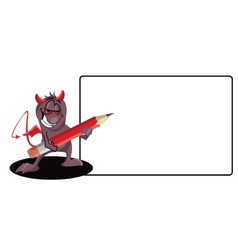 Demon-with-a-pencil vector image