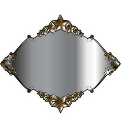 silver and gold frame vector image