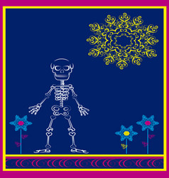 skeleton with flourishes vector image vector image