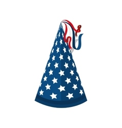 hat stars blue america vector image
