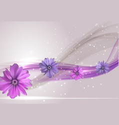 abstract anemone flower realistic frame vector image