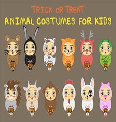 animal costumes vector image